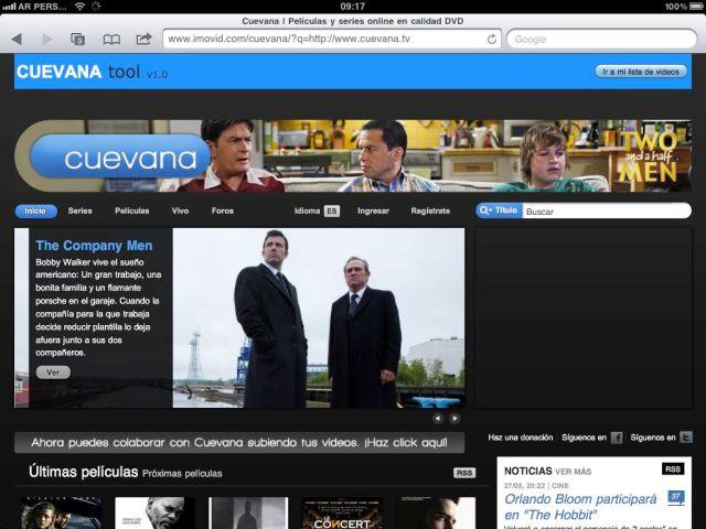 Como ver Cuevana 2 en iPad